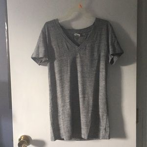PINK gray v-neck pj top (fitted)